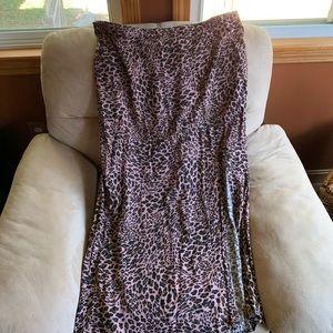 Wild fable leopard side slit skirt